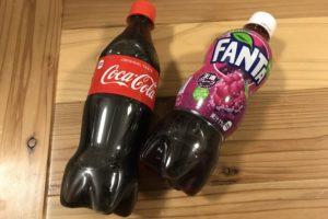 コーラとファンタ